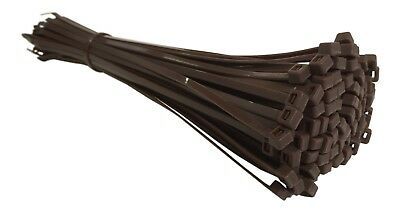 100 BROWN CABLE TIES 300mm X 4.8mm - UK Manufactured - DISCOUNTED