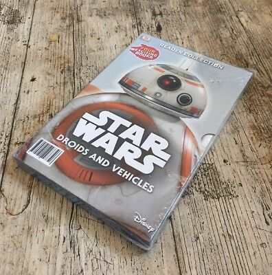 STAR WARS Droids and Vehicles ~ NEW 4 Books ~ Young Early Readers Collection
