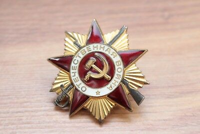 RUSSIAN SOVIET USSR CCCP MEDAL PIN BADGE Order of the Patriotic War 1 Class