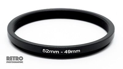 52mm to 49mm 52-49mm Step-Down Stepping Ring Filter Adapter - UK Stock