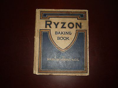 Vintage Antique 1918 Ryzon Baking Book By Marion Harris Neil Cook Book