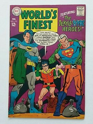 1968 World's Finest # 173 comic book FN 6.0 1st  appearance Silver-Age Two-Face!