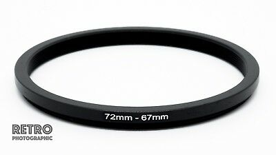 72mm to 67mm 72-67mm Step-Down Stepping Ring Filter Adapter - UK Stock