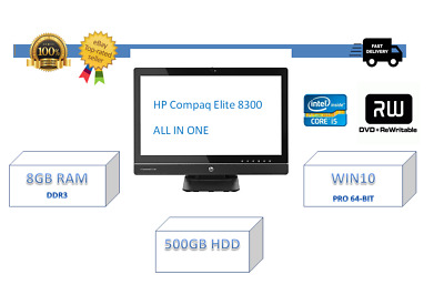"HP COMPAQ ELITE 8300 ALL IN ONE  23""INTEL CORE i5-3470 3,2ghz 8gb ram 500gb hdd"