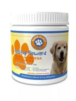 Honor Scout Omega Soft Chews For Dogs | All Natural Fish Oil Supplement Treats |