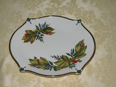Princess House Exclusive Winter Garden Cookie Tray Vintage Hollyberries