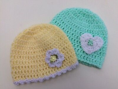 *Baby Boys Clothes/ Pretty Baby Girls Handmade Hats 0-3 Months *