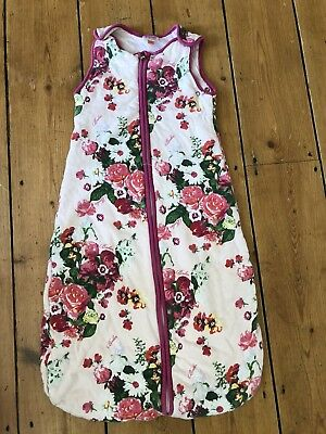 Ted Baker Baby Sleeping Bag Age 0-6 Months. oil painting/rose/floral 💕