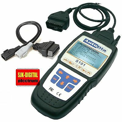 = OBD2 Diagnose Hand-Scanner S101 für VW Audi Seat Skoda VCD S + 2x2 Adapter =