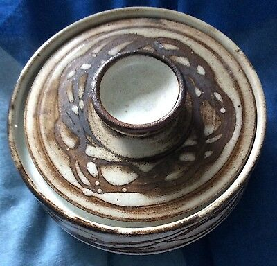 Studio Pottery Abstract Design Lidded Dish