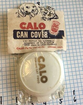 ANTIQUE CALO DOG CAT FOOD CAN Cover PET VINTAGE OLD