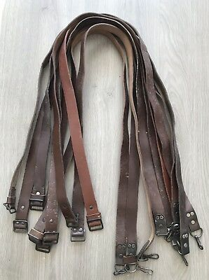 One (1) Vintage Romanian Leather AK SKS Sling W/ Buckles G Condition