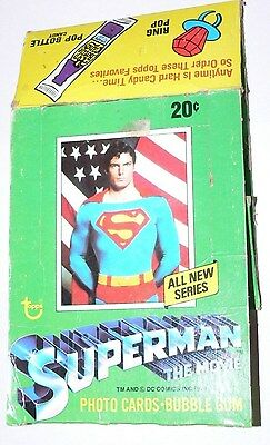 . Superman the Movie Series 2 Empty Card Box.