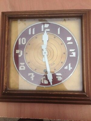 Wonderful Art Deco French Wall Clock