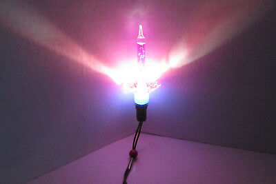 Vintage Reliance Spark-L-Lite Bubble Light Bulb With Purple Water Tube CA. 1950