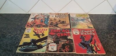 Vintage - Battle Picture Library Comics x 6 - 6/7/8p issues - see pictures