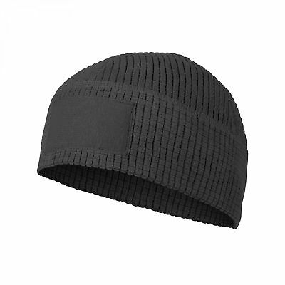 Helikon-Tex Range Beanie Fleece Cap OUTDOOR VLIESMÜTZE -Grid Fleece- Schwarz