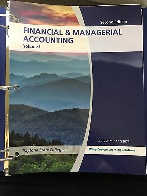 Financial & Managerial Accounting Custom for Daytona State College Loose Leaf