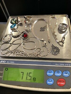 Lot Of 925 Sterling Silver Mixed Jewelry Not Scrap All Wearable Resell 71g Lot2