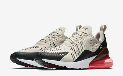 Nike Air Max 270 Men's Running Shoes Sneakers Light Bone/Hot Punch Multi-Sizes