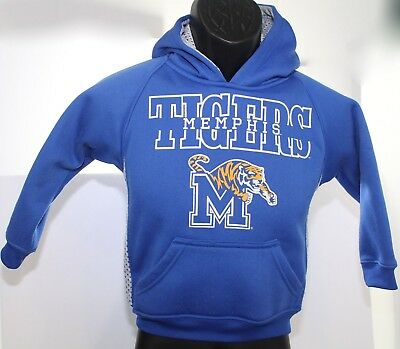 Memphis Tigers Youth Blue Gray Hooded Sweatshirt Hoodie Size 4 / 5 Front Pocket