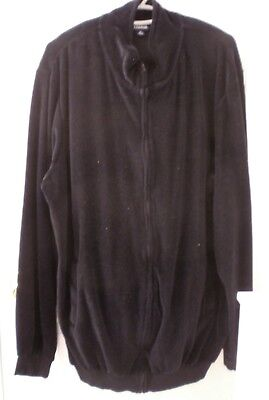 King Size Brand, Mens Tall Sz Xlt Black Velour 2 Piece Leisure Suit New Wout Tag
