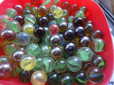 Kids Play Glass Marbles 16mm Mixed Color Home Decoration + Free Organza bag