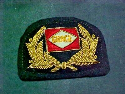 "Bullion ""GRACE"" Lines Officers Cap Badge."
