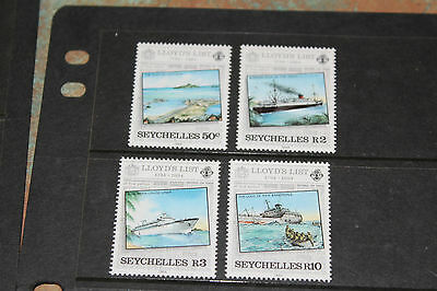 Seychelles 1984 Lloyds List Centenary  Set Of 4 Fine M/n/h Cond