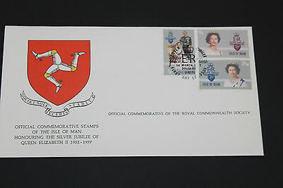 Isle Of Man 1977 Qe2 Silver Jubilee On Scarce Royal Society First Day Cover