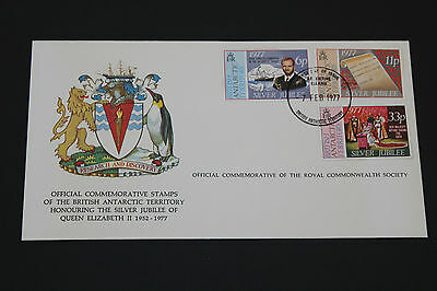 British Antartic 1977 Silver Jubilee On Scarce Royal Society First Day Cover
