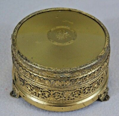 Vintage Working Musical Powder Box