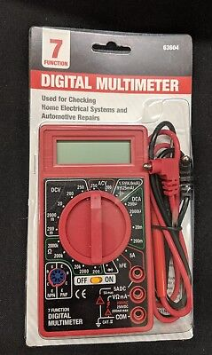 New In Box 7 Function Digital Multimeter & Battery Tester.
