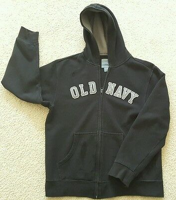 OLD NAVY Zip Up Hoodie Sweatshirt Size 14 / 16 Navy Blue Very Warm Fleece