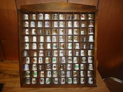 100 count thimbles with display case