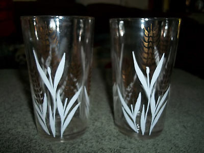 Mid Century Modern Drinking Glasses - Set of 3