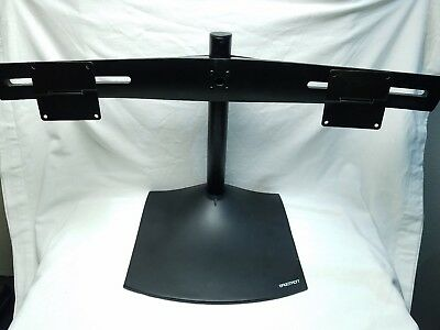 "Ergotron DS100 Dual-Monitor Desk Stand - Up to 62lb - Up to 24"" - Black"