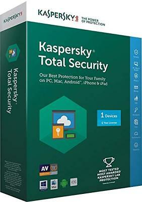 Kaspersky Total Security 2020 1 devices 1 year Code  USA/CANADA Bilingual