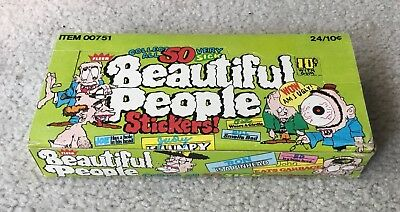 "FLEER "" BEAUTIFUL PEOPLE"" Stickers BOX 24 Ct. Circa Late 60's Early 70's"