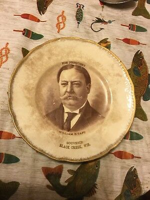William H. Taft  PRESIDENTIAL CAMPAIGN PLATE Black Creek, Wisconsin