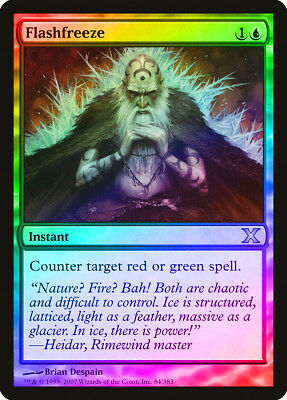 Overgrowth FOIL 10th Edition HEAVILY PLD Green Common MAGIC MTG CARD ABUGames
