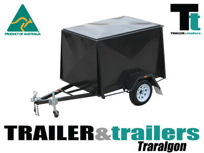 6x4  ENCLOSED VAN TRAILER 6FT HIGH NEW WHEELS NEW TYRES CHECKER PLATE FLOOR