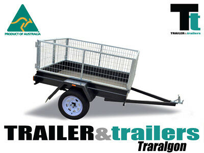 "6x4 CAGE TRAILER LIGHT DUTY | 2FT CAGE | 9"" SIDES 