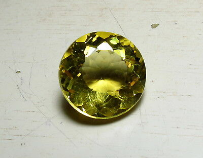 15mm AAA GOLDEN CITRINE faceted ROUND CUT LOOSE GEMSTONE 11CT