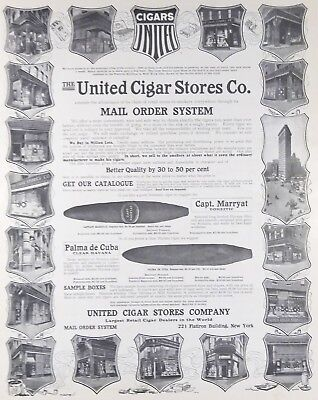 Antique United Cigar Stores Co. 1904 Print Ad - Old Photo Store Front Art Poster