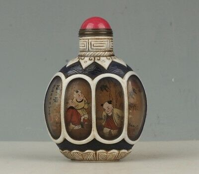 Chinese Exquisite Handmade children Glass snuff bottle