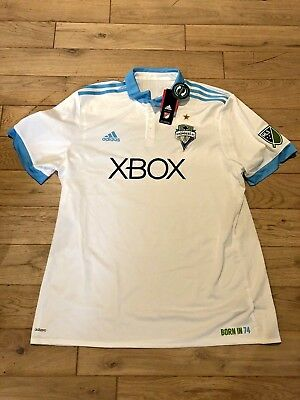 ad90d256d NWT ADIDAS SEATTLE SOUNDERS FC JERSEY Soccer Adizero Authentic Small ...