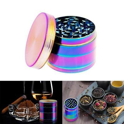 4-Layers Metal Rainbow Tobacco Herb Grinder Hand Muller Smoke Crusher 1Pcs