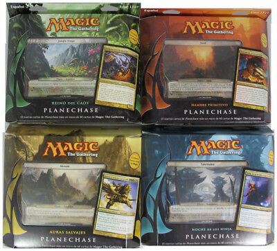 Planechase 2012 Deck Set of Four (SPANISH) FACTORY SEALED NEW MAGIC MTG ABUGames
