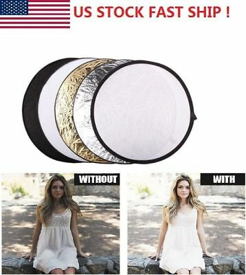 """43""""/110cm 5in1 Photo Studio Multi-Disc Collapsible Light Reflector with Bag"""
